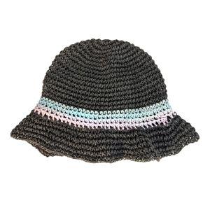 Roxy Paper Black Bucket Sun Hat OS